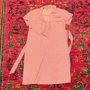Vineyard Vines Striped Pink Nylon Dress